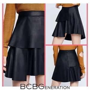 💥 NEW BCBGeneration Asymmetrical Leather Skirt